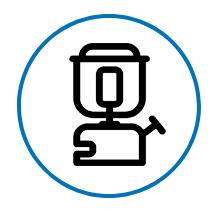 Icona bombola di gas con cannello - servizi campingaz